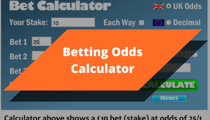 Betting odds calculator
