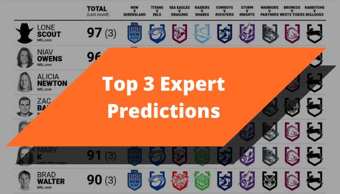 top 3 expert predictions